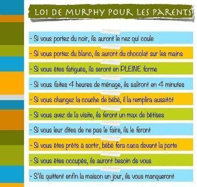 Loi de murphy pour les parents - Loi pour les proprietaires ...